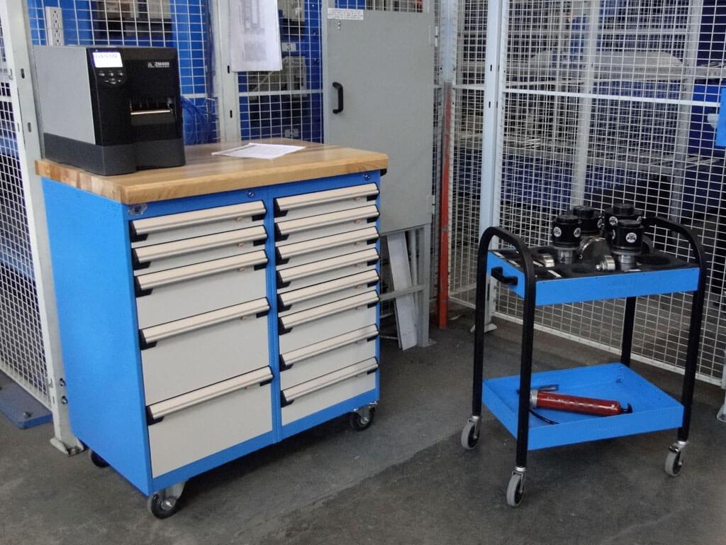 Cabinet bleu gris