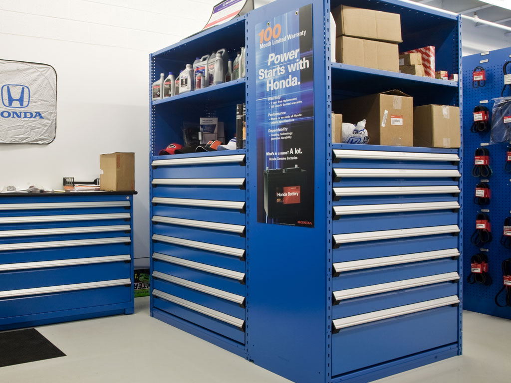 Small parts storage, NC