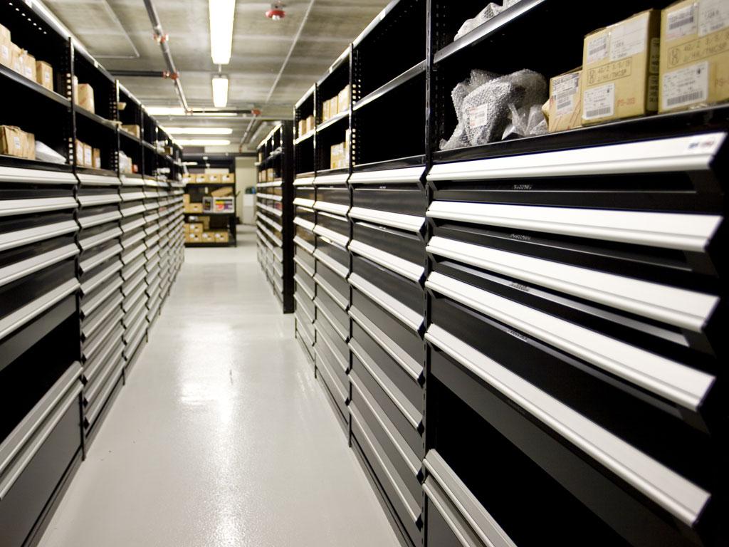 Small parts storage, FL