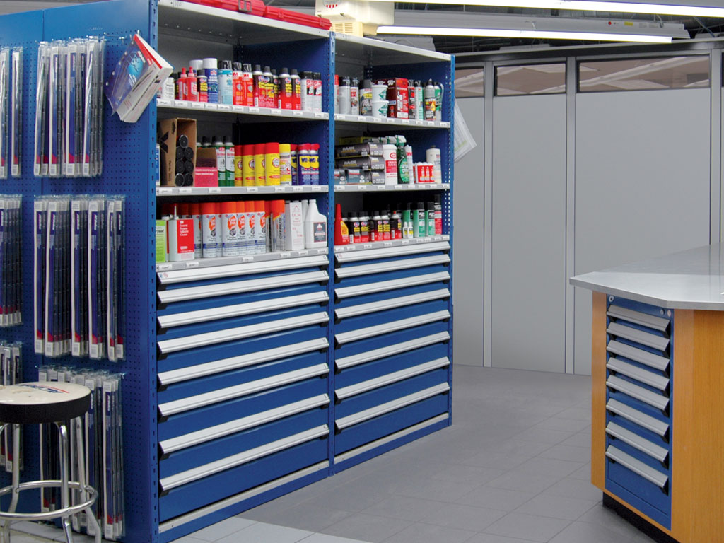 Small parts storage, MT