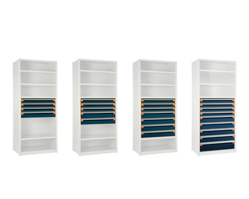 Shelving with Drawers Evolution