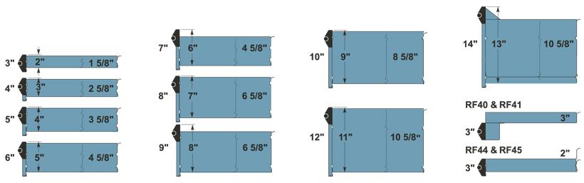 Dimensions intérieures de tiroirs