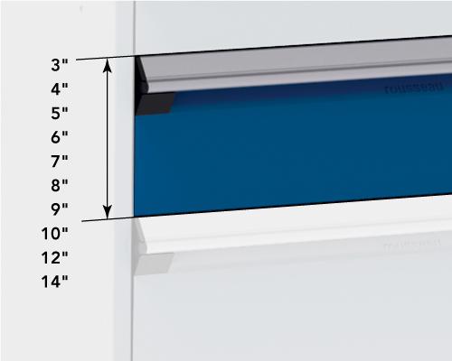 Dimensions extérieures tiroirs R